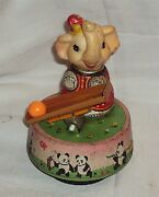 Elephant Tinplate Toy 1970 Old Original Vintage Wind-up Rare Finding Collectible