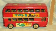 Vintage Friction Tinplate Toys Bus From China 1970and039s