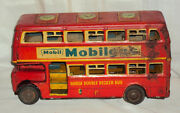Hausa Double Decker Advertisement Bus Mobil Gas Good Year 1960vintage Friction