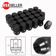 24 Black Lug Nuts M14x1.5 Oem Factory Style Replacement For Gmc Sierra Chevrolet