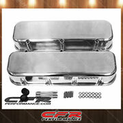 Fit 65-95 Chevy Bb 396 427 454 502 Polished Aluminum Smooth Tall Valve Covers