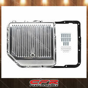 Fit Chevy Gm Turbo 350 Th350 Aluminum Transmission Pan Kit Deep Finned Polished