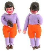 1 Vintage Original Celluloid Cloth Football Player Novelty Dime Store Doll Toy