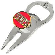 Hat Trick Openers 6 In 1 Golf Divot Tool - Maryland Terrapins