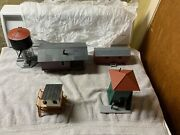 Built Plasticville Buildings 4 And T Poles,billboards Water Tank. No Boxes