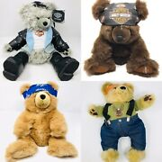 Lot Of 4 Vintage Large Harley Davidson Teddy Bear Plush Collection Rare 97andrsquo-2000
