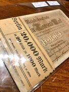 Collectible Money Banknotes Germany. 20pc. 1000 Mark. 1910. Most Unc. No Graded
