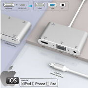 For Iphone 12 Pro Max Se2 Xr 7 8 Plus To Hdmi And Vga Adapter,8pin Hub Multiport