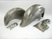 New Indian Chief Post War Model Mudguard Fender Set With Chain Guard Guarantee