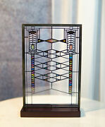 Frank Lloyd Wright Robie House Stained Glass Suncatcher Wall Or Desktop Plaque