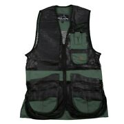 Wild Hare Range Vest Leather And Mesh -- Hunter Green And Black