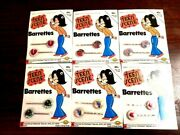 Nos Vintage Teen Scene Psychedelic Hippy Barrettes Bobbie Pins Hair Clips 6 Lot