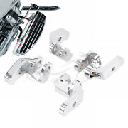 4588 Chrome Driver Floorboard Relocation Brackets For Harley Touring Flht 97-16