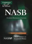 Nasb Clarion Reference Bible Ns486xe Black Goatskin Leather By Bible New..
