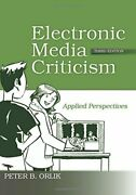 Electronic Media Criticism Applied Perspectives Orlik B. 9780415995375 New
