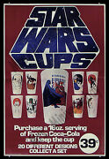 Star Wars Cups Frozen Coke And03977 Amazingly Rare Coca Cola Advertising Movie Poster