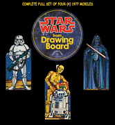 Star Wars ☆ Drawing Board ☆ Ceiling Hanger Store Display Movie Poster Mobile Set