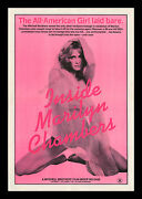 ☆ Inside Marilyn Chambers ☆ Original 1975 X-rated Movie Poster And Press Ad-mats