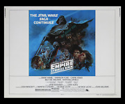 Star Wars The Empire Strikes Back Rare ⌦moody Blue Style B 22x28 Movie Poster