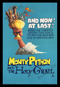 Monty Python And The Holy Grail Original 1975 British Double Crown Movie Poster