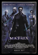 The Matrix ☆1999 4x6 Ft Special Advance Bus Stop Kiosk Movie Poster Keanu Reeves