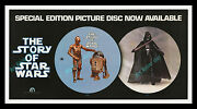 The Story Of Star Wars ☆1978 Picture Disc Movie Poster Store Display ☆ Must See