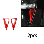 For Ford Mustang 2018-2020 Abs Red Car Daytime Running Lights Frame Cover 2pcs