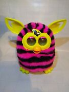 Furby Boom Black And Pink Stripes Talking Plush Toy By Hasbro Tested Worksfine