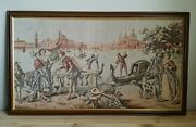 Antique Tapestry French Aubusson Style Wall Hanging Large 36 X 21 Vintage