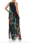 New Camilla Franks Wise Wings Tie Front Multiwear Dress100 Silk Crystals