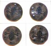 22 Antique Black Glass Buttons Acanthus Leaves Beads Brass Wire Shanks Victorian