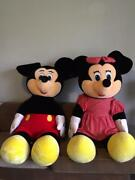 Disney Rare Collectible Giant Mickey And Minnie. Authentic Original Disney