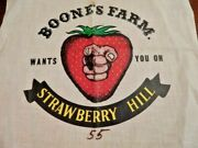Vintage 70s Boones Farm Wants You On Strawberry Hill Iron On Sample Fabric Patch