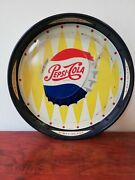 Vintage Mexican Pepsi Cola Tin Metal Tray From 50's Dual Side