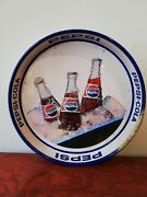 Vintage Mexican Pepsi Cola Tin Metal Tray From 70's Dual Side