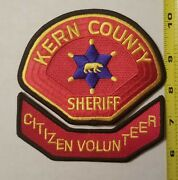 Kern County Sheriff Ca Citizen Volunteer 2-patch Set. 100 Embroidered