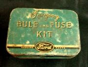 Vintage Ford Emergency Bulb And Fuse Kit Metal Car Auto Part No 18407 Model 78 Us