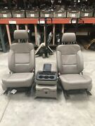 14-17 Gmc Sierra 1500 Leather Electric Front Seats And Rear Bench Seats