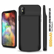 Slim Mfi Extended Rechargeable Charging Cover Battery Case For Iphone X 6s 7 8+