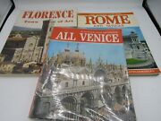Vintage 1970s Venice Rome Florence -italy Tourist Guide Color Photos Map