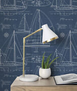 Peel And Stick Sailboat Self Adhesive Removable Wallpaper- 20.5 W X 18' L Roll