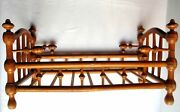 Toy Doll Cabinet 1900 Crib Turned And Curved Wood Brass Studs