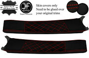 Red Diamond Stitch Door Sill Lthr+luxe Suede Covers For Lotus Elise S2 01-06