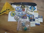Cub Scout Lot Patches Lot Tie Scarf Cards Neckerchief Slide Blanks