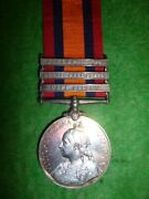 Queenand039s South Africa Medal 1899-1902 3 Clasps To Robertsandrsquo Horse From Cork