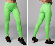 Strong Nation Reflective Laser High Waisted Leggings - Neon Green Z1b01110