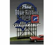 Pabst Blue Ribbon Miller's Engineering Animated Neon Sign O/ho Scale 4081