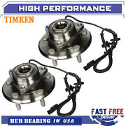 Timken Front Wheel Hub And Bearing Pair For 06-08 Dodge Ram 1500 4wd 4-wheel Abs