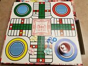 Vintage 1945 Whitman Pachisi Game Of India 4728 Plastic Bakelite Pieces And Cup