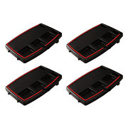 Stupid Car Tray Multi Function Food And Drink Travel Organizer, Black/red 4 Pack